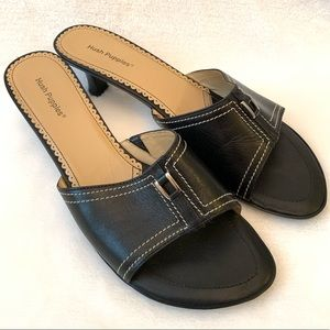 Hush Puppies Black Sandals Size 9 M